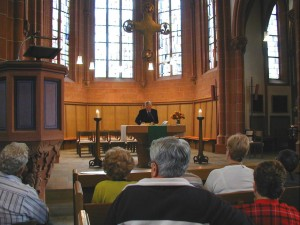 The interior of the Schlosskirche, during our special service, honoring Friedrich Carl Christlieb.